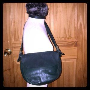 Coach Hunter green bag w/ matching wallet